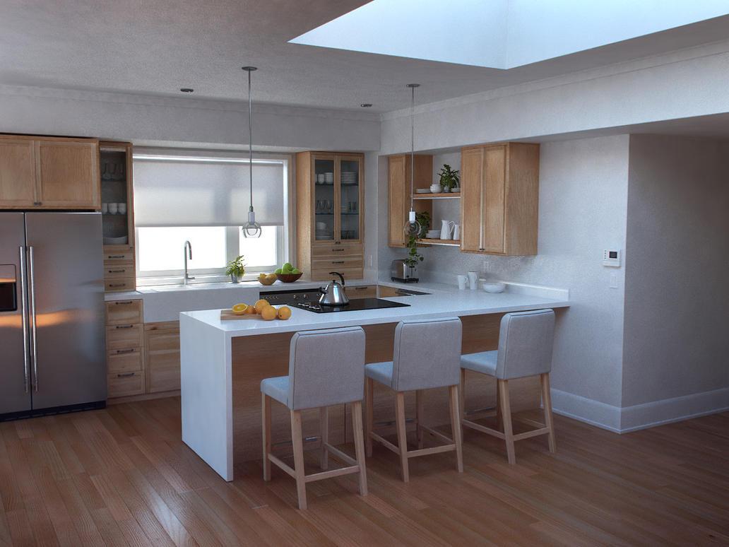 Kitchen Archviz by excatriate