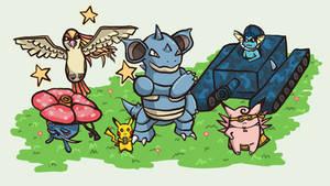 My Pokemon Yellow Team
