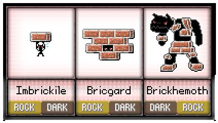 #38 - #40 Imbrickcile / Bricgard / Brickhemoth by Serpexnessie