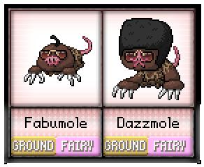 #66 - #67 Fabumole / Dazzmole