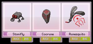 #020 - #022 : Stonifly, Cocrune, Runesquito
