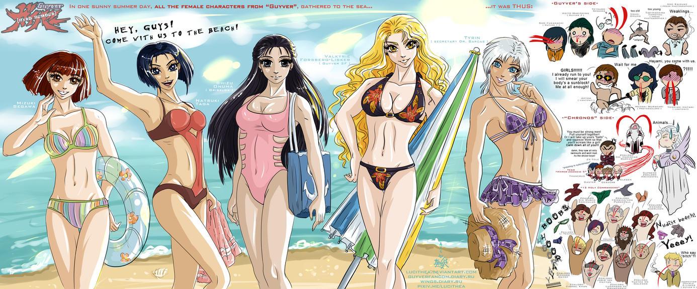 Guyver -vs- bikini by Lucithea