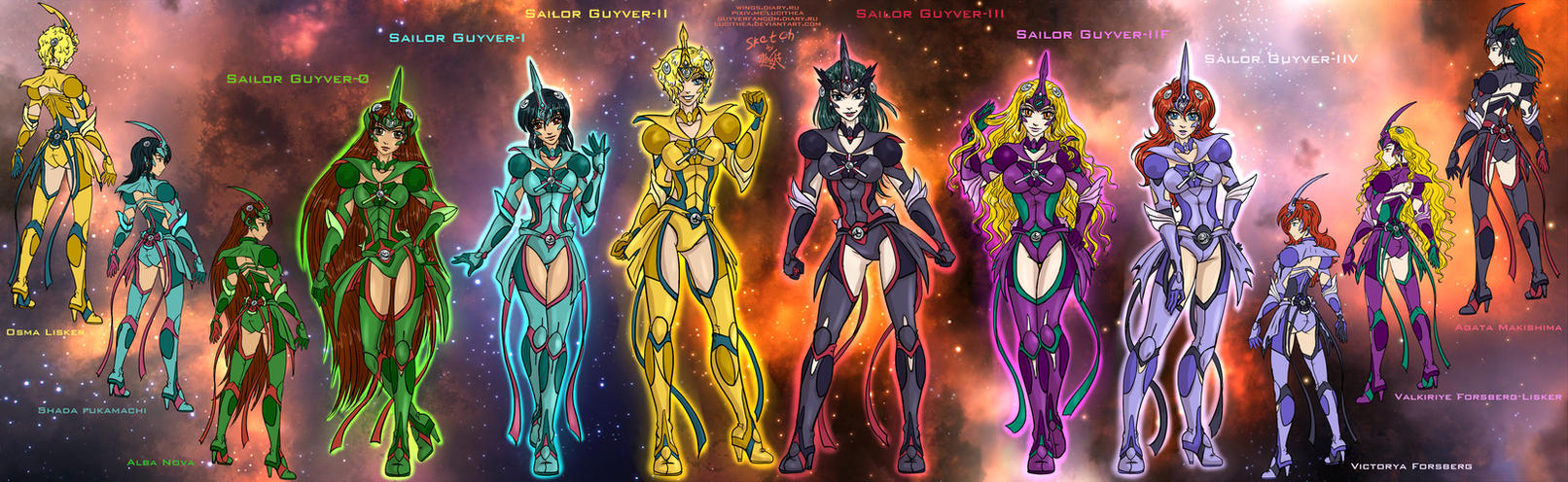 Sailor Guyvers by Lucithea