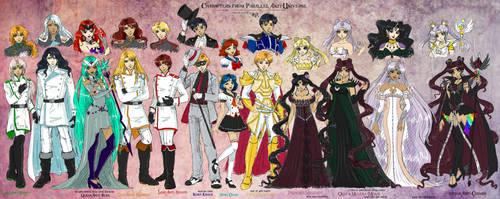 SM: Shi Anti-Tennou, Sailor Anti-Cosmos and other by Lucithea