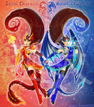Sailor Dragon-Twins - [Mythical Creature Senshi]