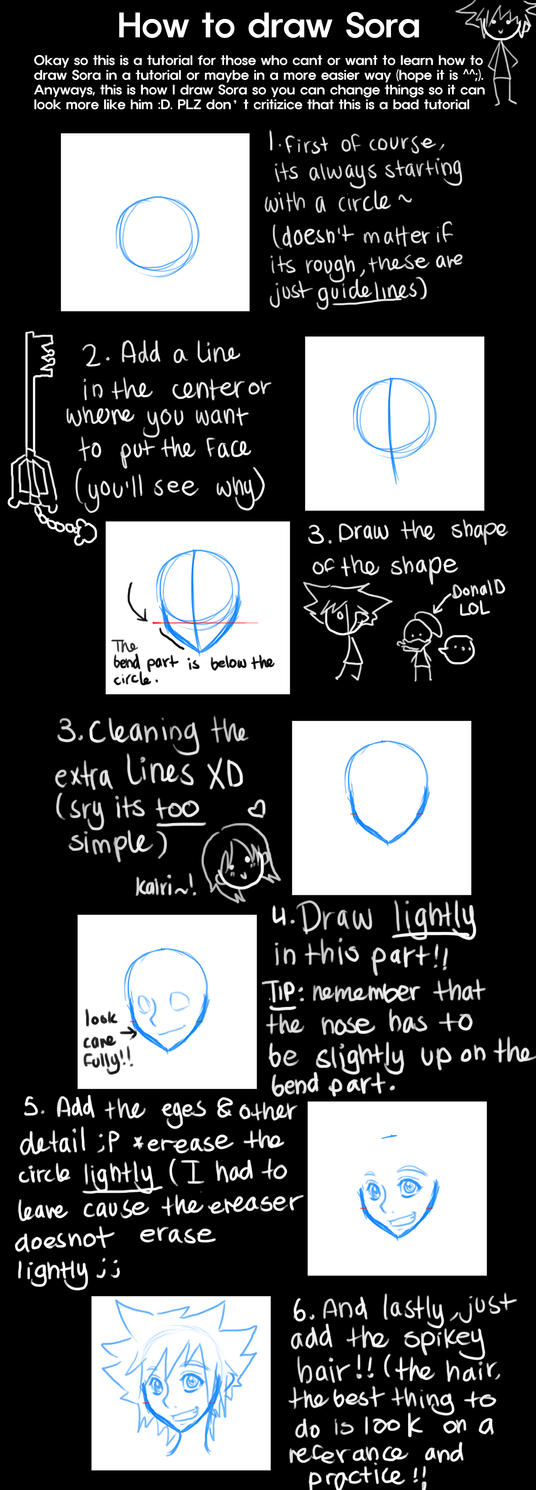 How to draw Sora by S2En-JayS2