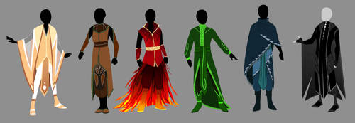 Dulcedomum- Elemental Robes by ShayDayJay