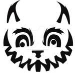 Cheshire Cat Pumpkin Design