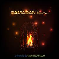 Ramadan Lantern with Fire by Roberis