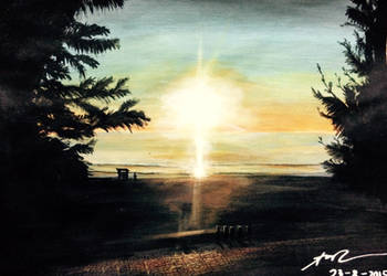 Landscape Painting with Acrylic by AoiCancerius