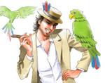 Jose Carioca and his parrots
