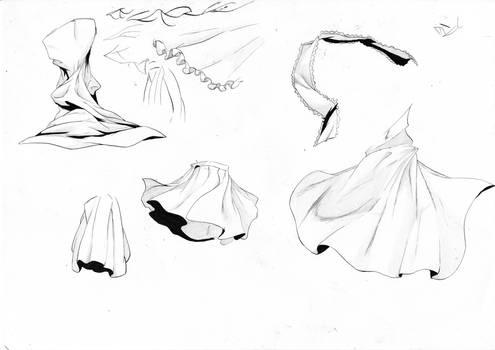 Random cloth sketches