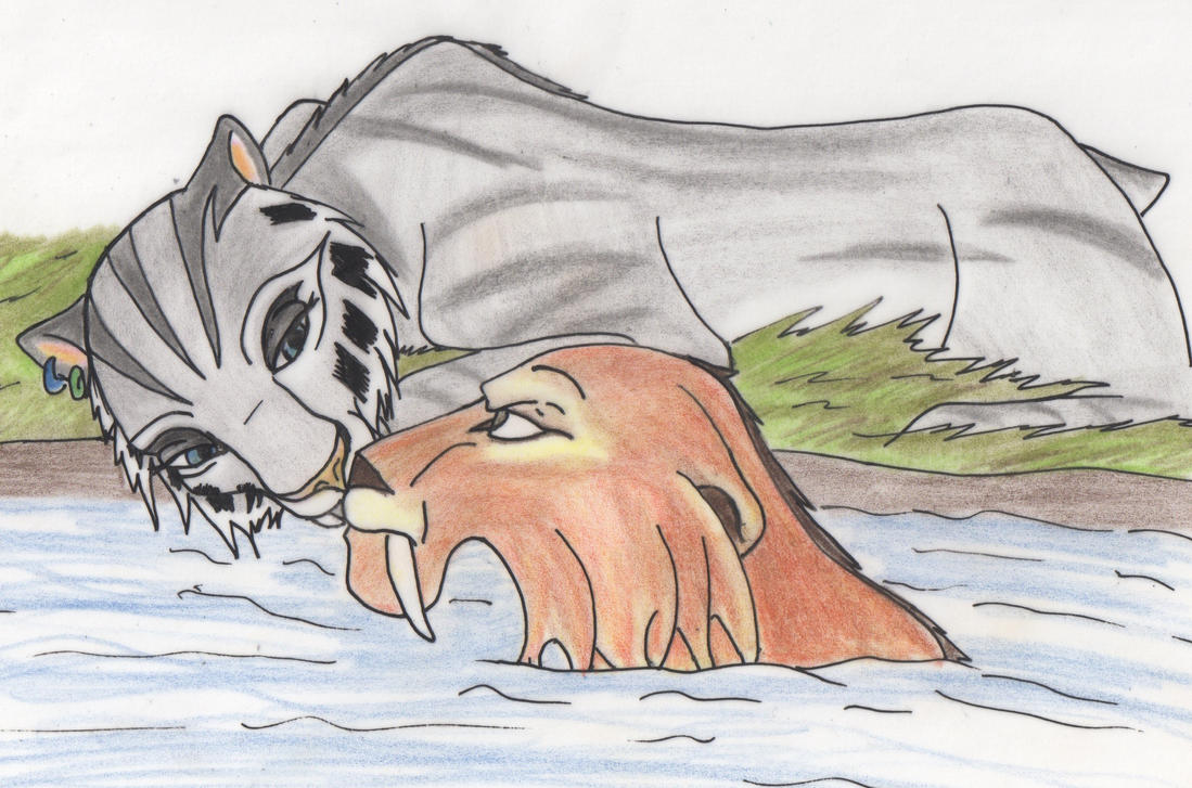 ice age 4 shira and diego kiss - photo #12