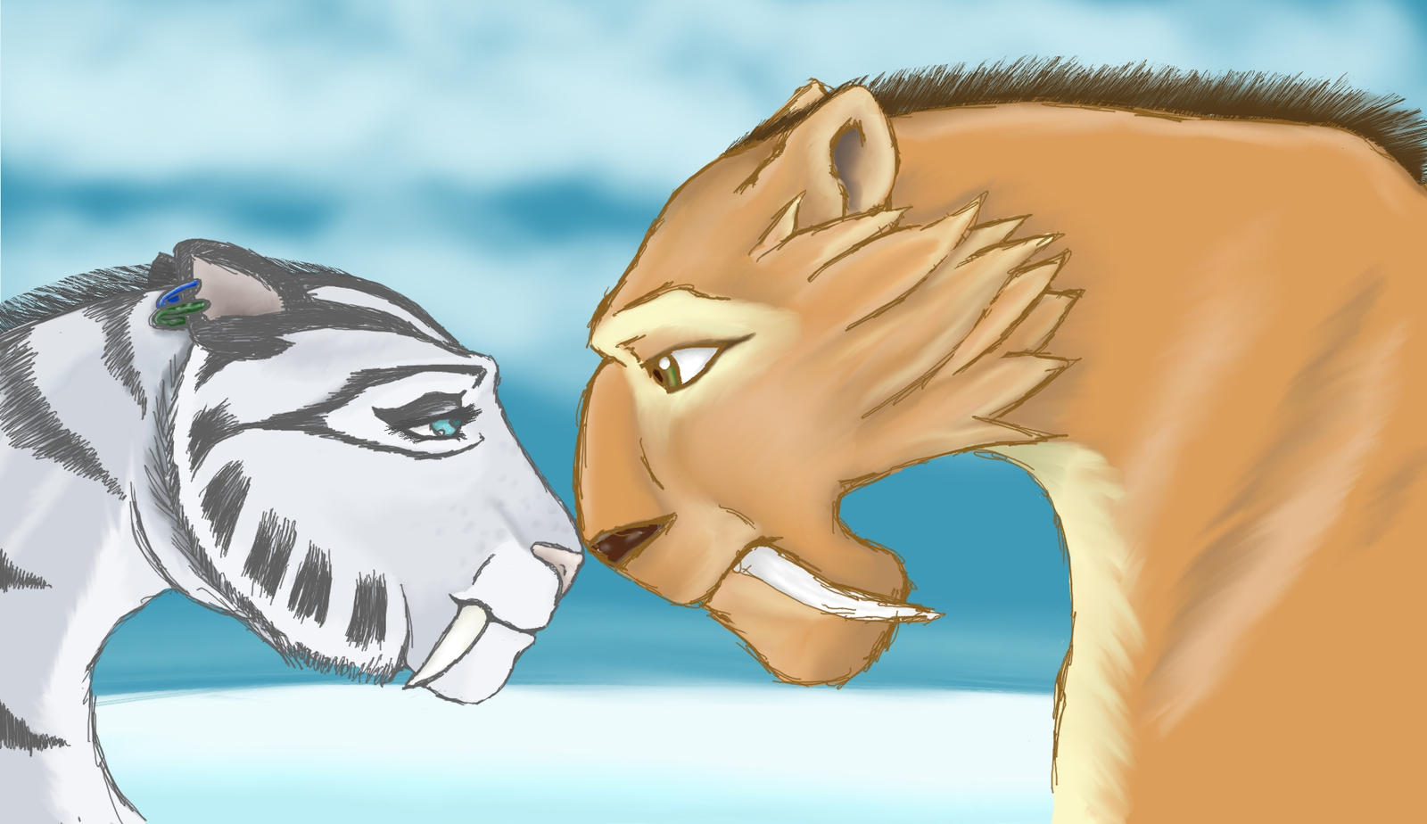 ice age 4 shira and diego kiss - photo #4