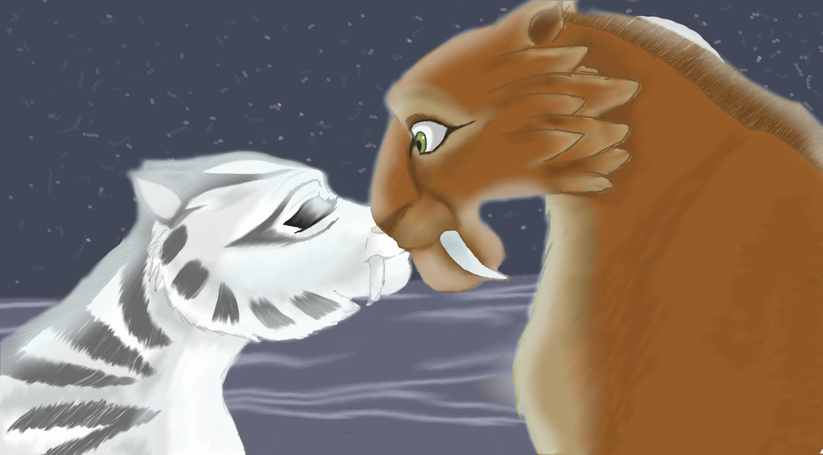 ice age 4 shira and diego kiss -#main