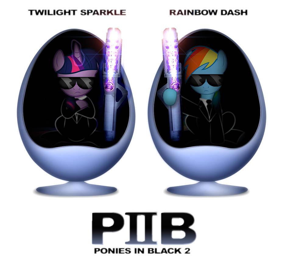 PIB Ponies In Black 2 by dan232323