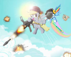 Meet Derpy The Soldier by dan232323