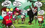 Dipper and Mabel visit Amphibia