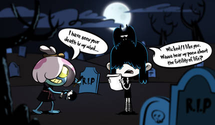 Lucy Loud meets Maddie