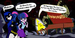 Twilight and Raven Meet Bill Cipher by dan232323