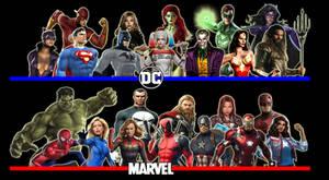 DC Comics VS Marvel by x-Moonlight-Dreams-x