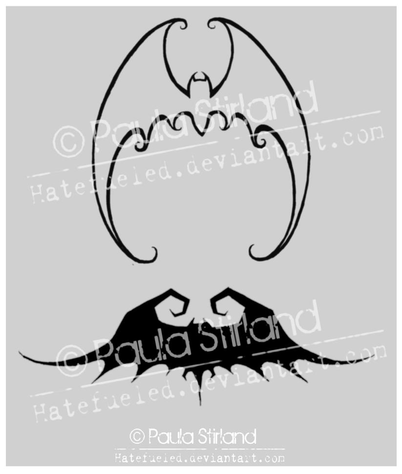 Bats Tatts by hatefueled