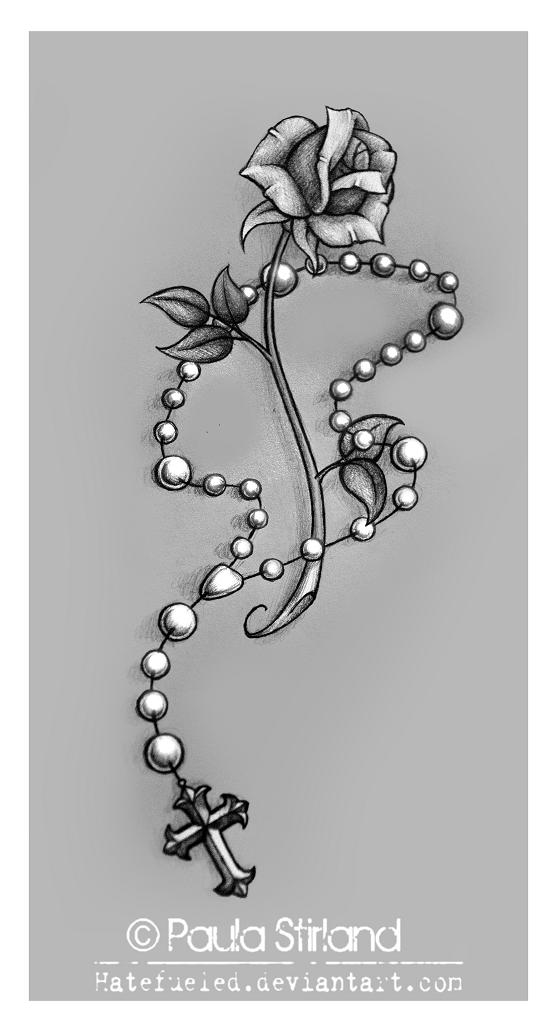 D Rosary Tattoo Designs