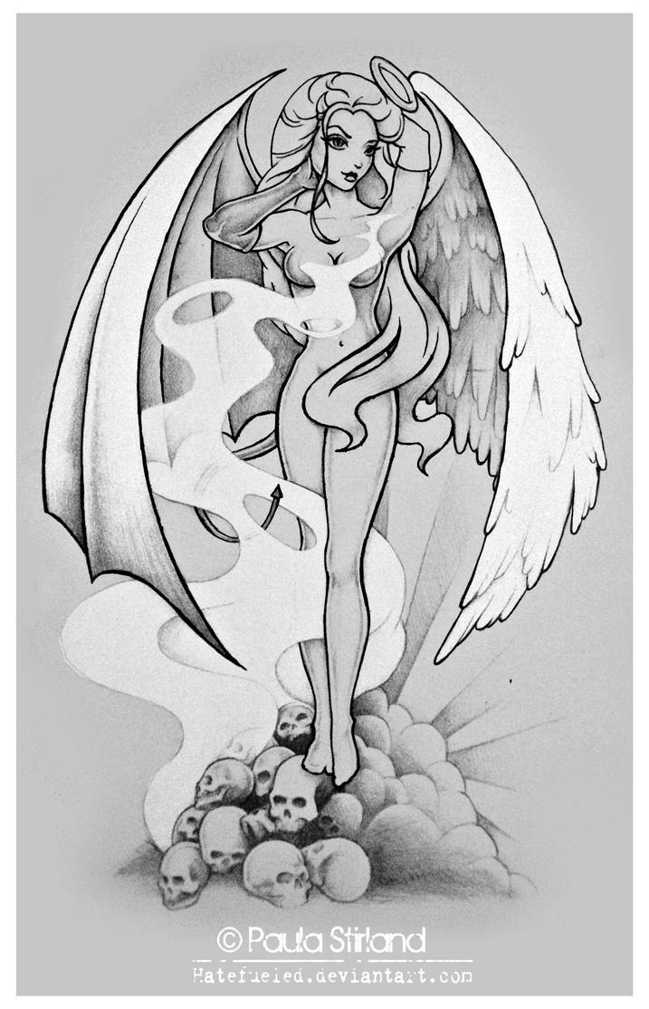 half angel half demon by hatefueled on deviantart. Black Bedroom Furniture Sets. Home Design Ideas