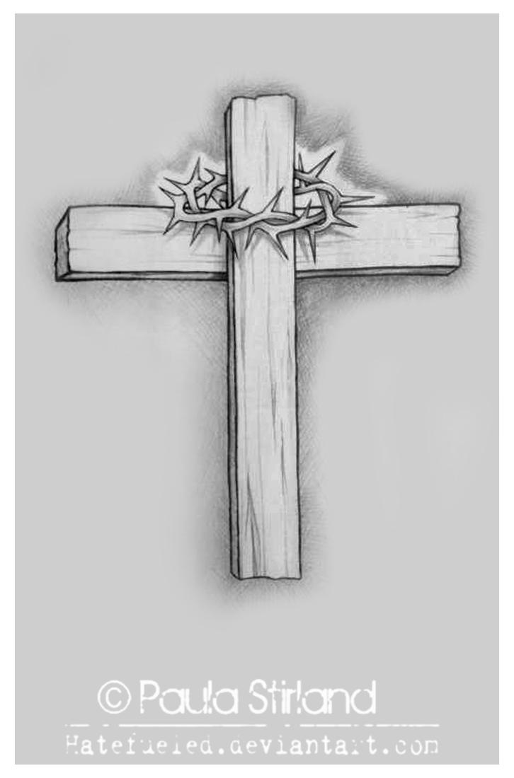 Wooden cross by hatefueled on deviantart for Wood cross tattoos