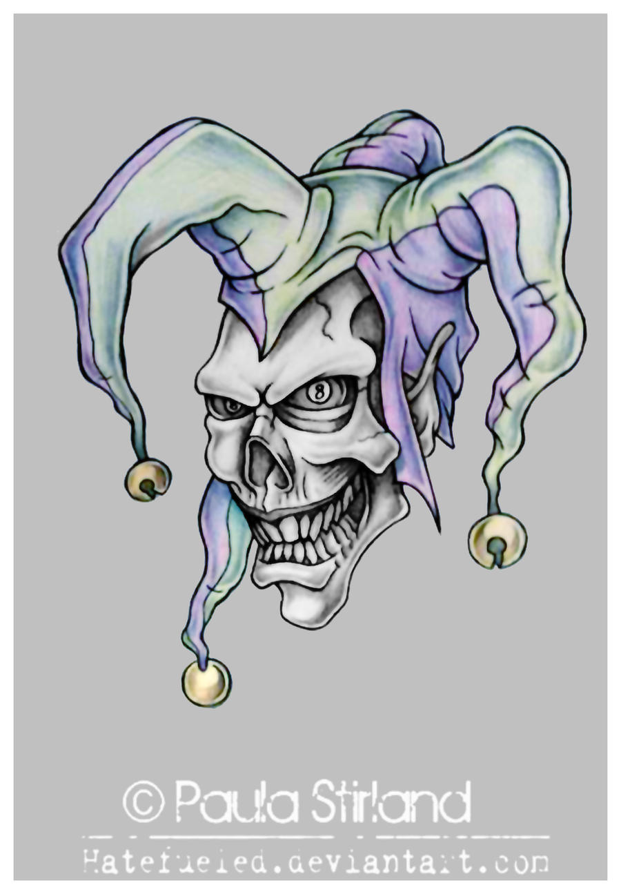 the gallery for evil joker tattoo drawings. Black Bedroom Furniture Sets. Home Design Ideas