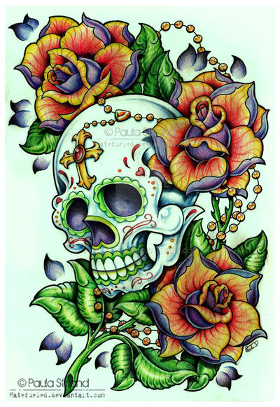 Sugar Skull Rosebush by hatefueled