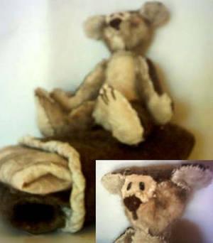 Alister the felt teddy bear