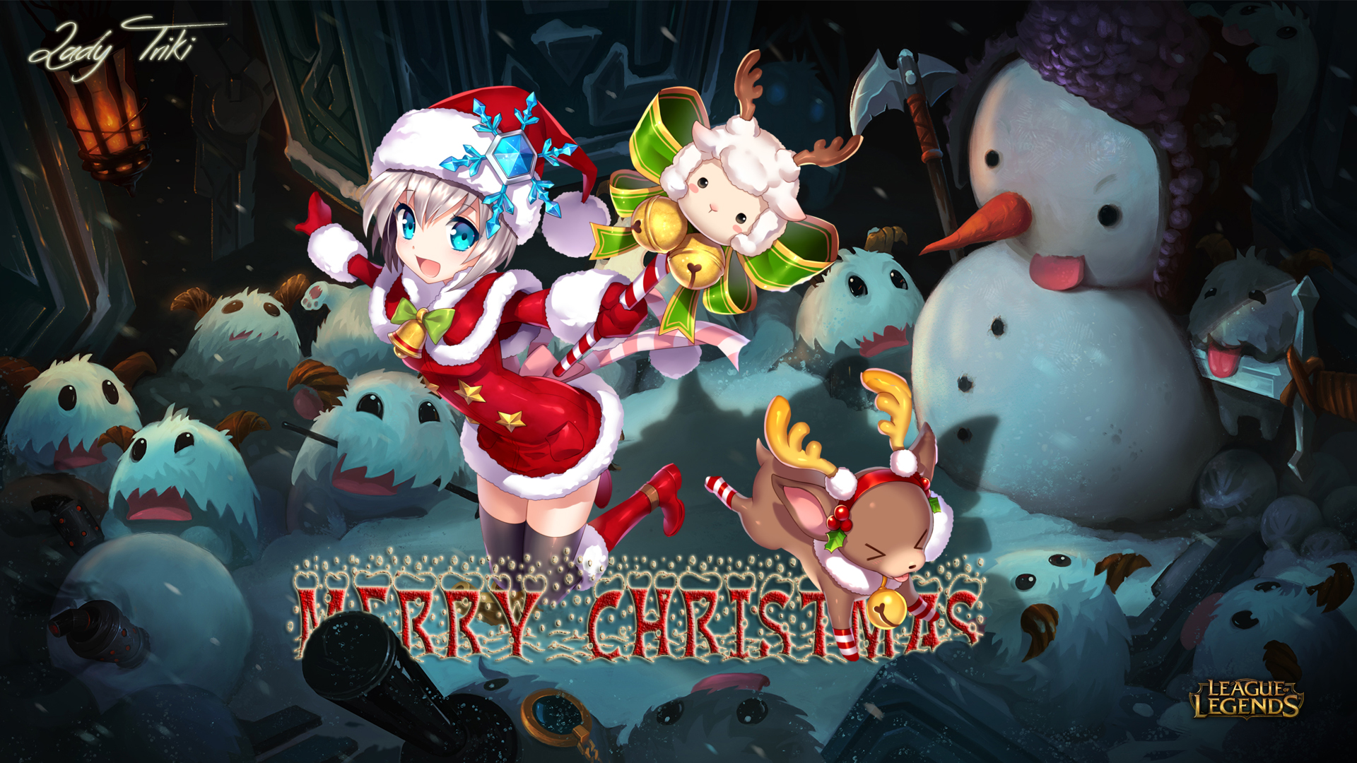 Merry Christmas League Of Legends Wallpaper By Ladytriki On
