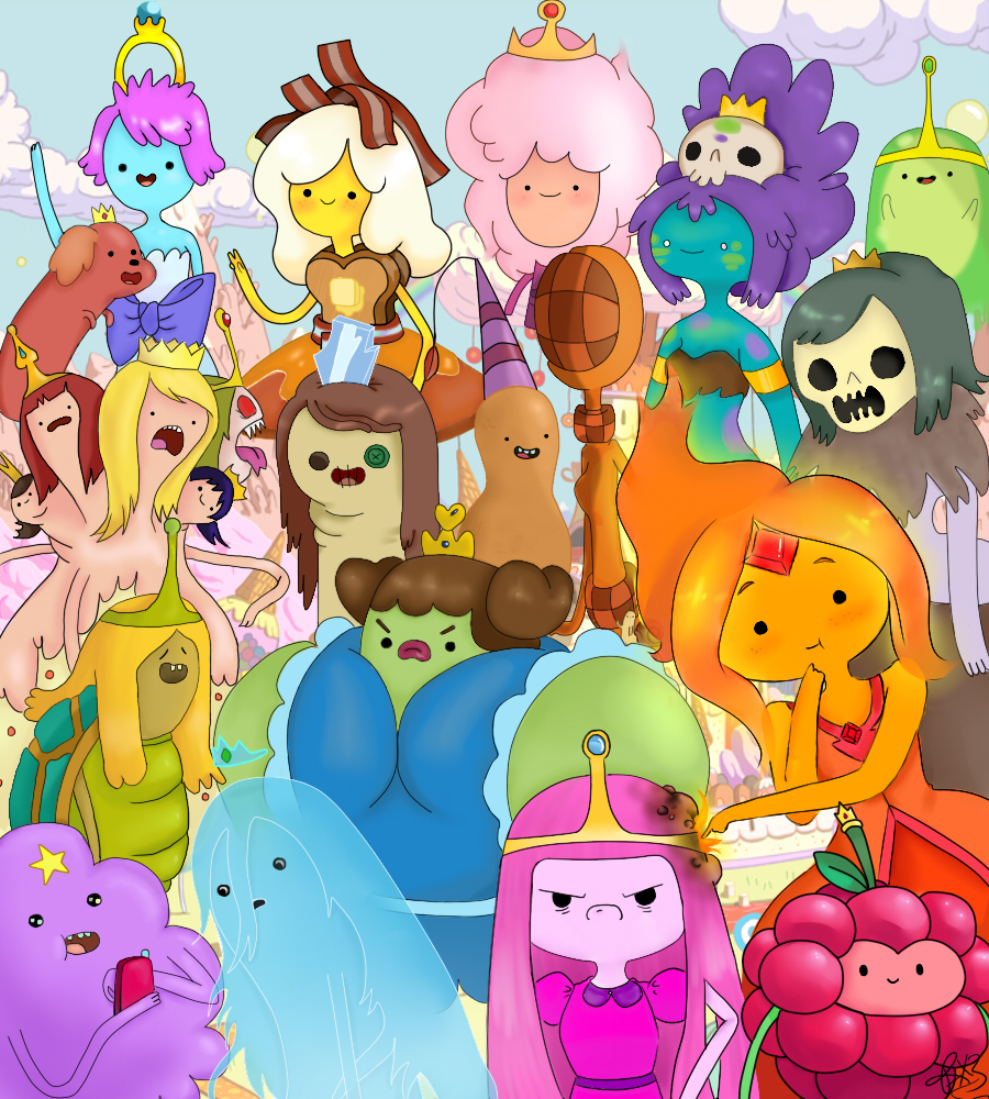 The Princesses of Adventure Time by raylee-arts