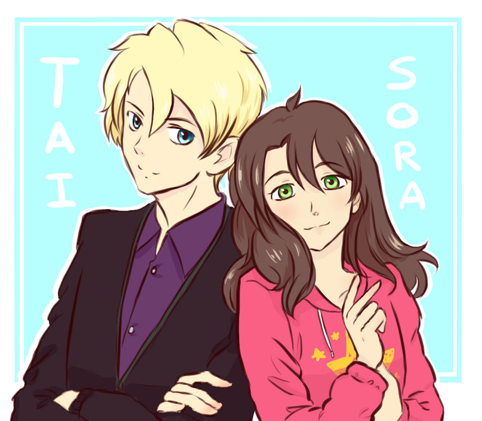 Drawing request: Sora and Tai by VvibrantcolorsS