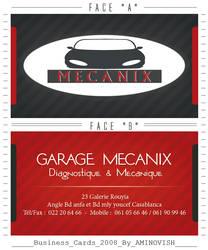 VISITED CARD ' MECANIX '
