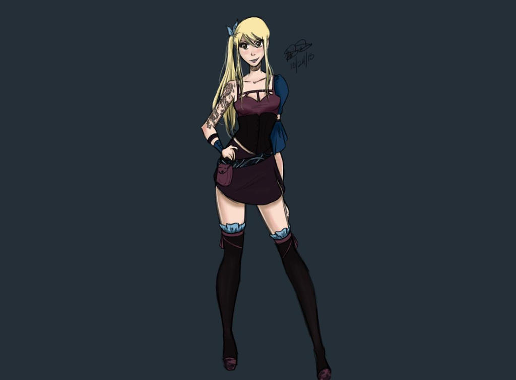 Dark Lucy Heartfilia By Key To My Art13 On Deviantart