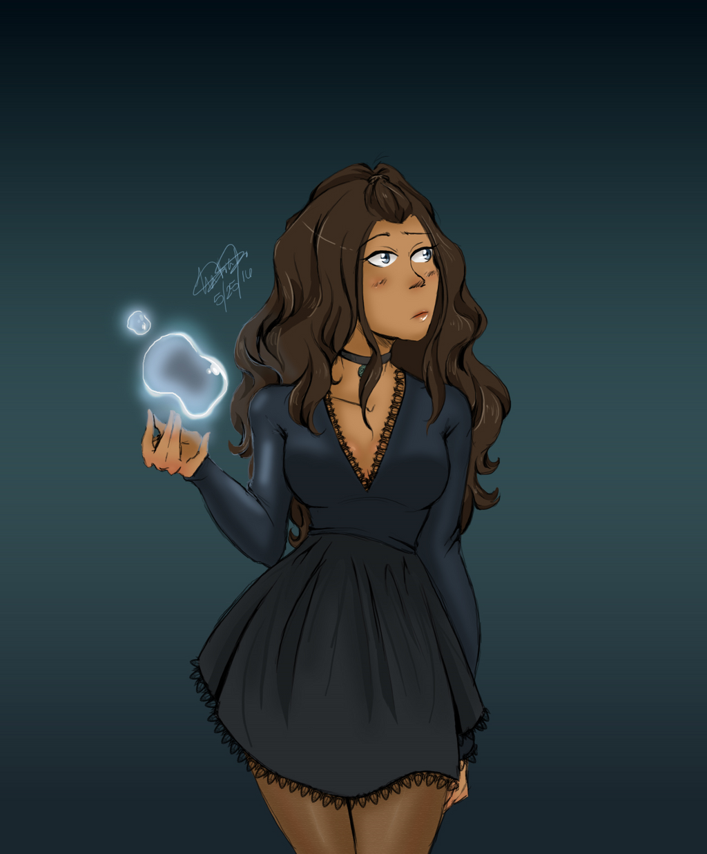 Exceptional Amazing Modern Art #1: Katara__the_last_water_witch_by_key_to_my_art13-da3zj3v.png