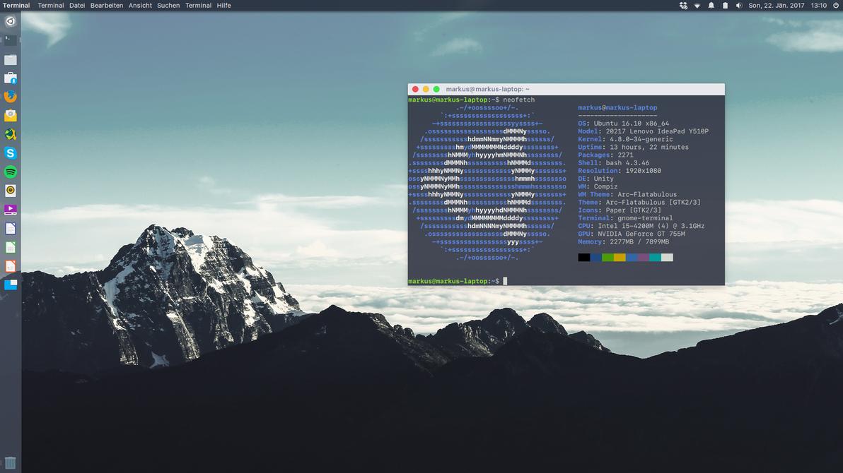 Ubuntu 16.10 Screenshot by Markus-Deviant