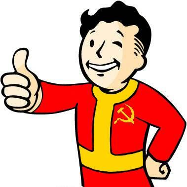 Communist Vault-Boy by ThereIsNoStringsOnMe