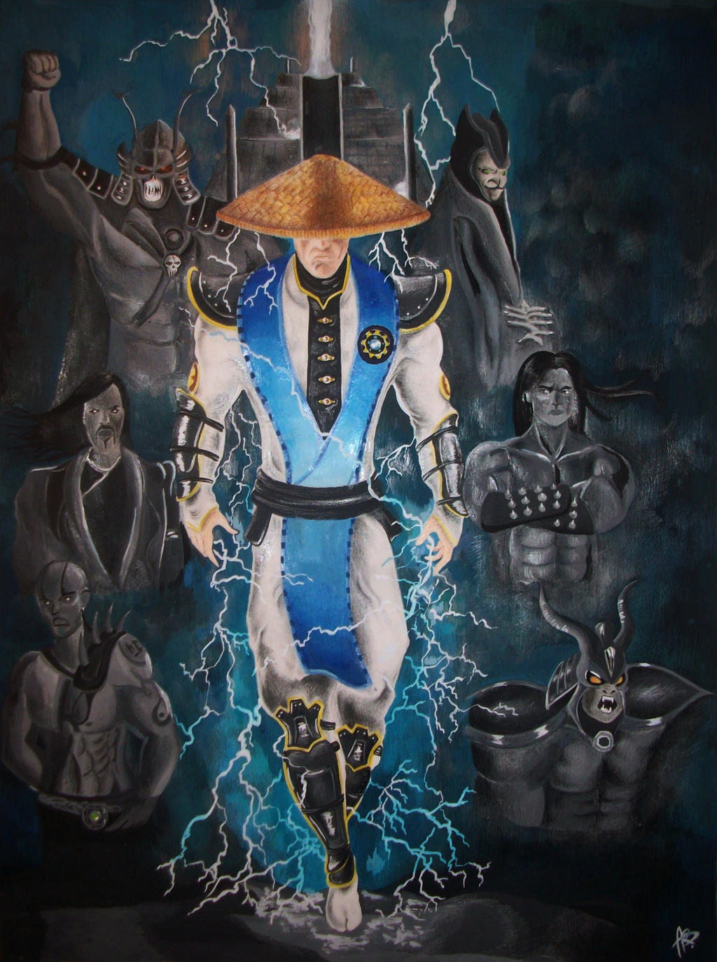 Lord Raiden from Mortal Kombat by Roccia95