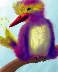 Smiling Bird by Near-Miss-Nic