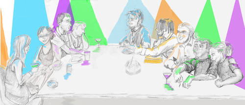 A Pythonesque Last Supper by Daria-rat