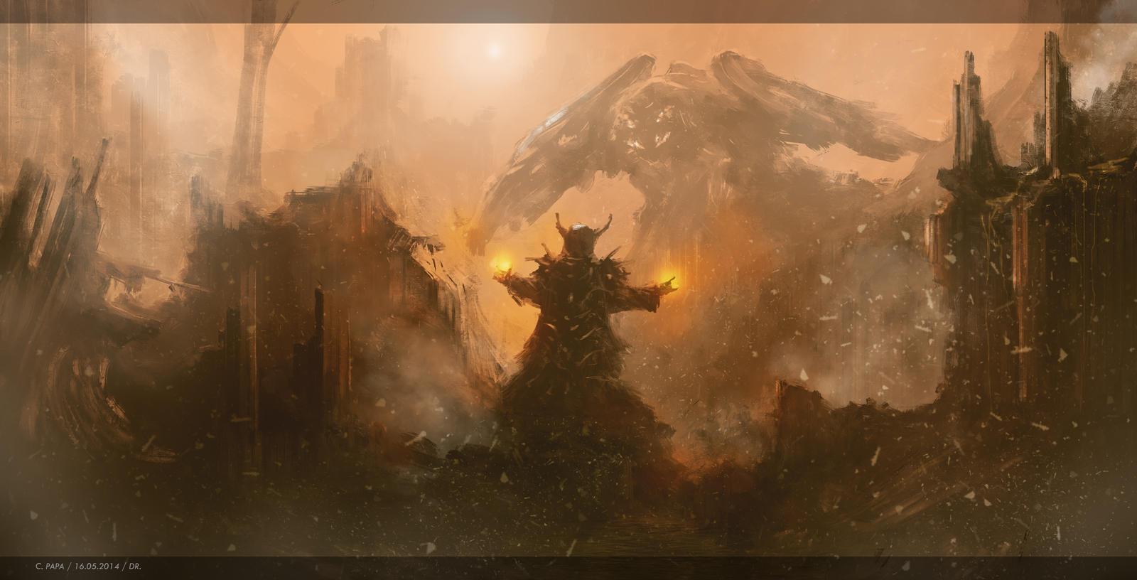 Warlocks Dragons: Dragon Vs Warlock By Azagth On DeviantArt