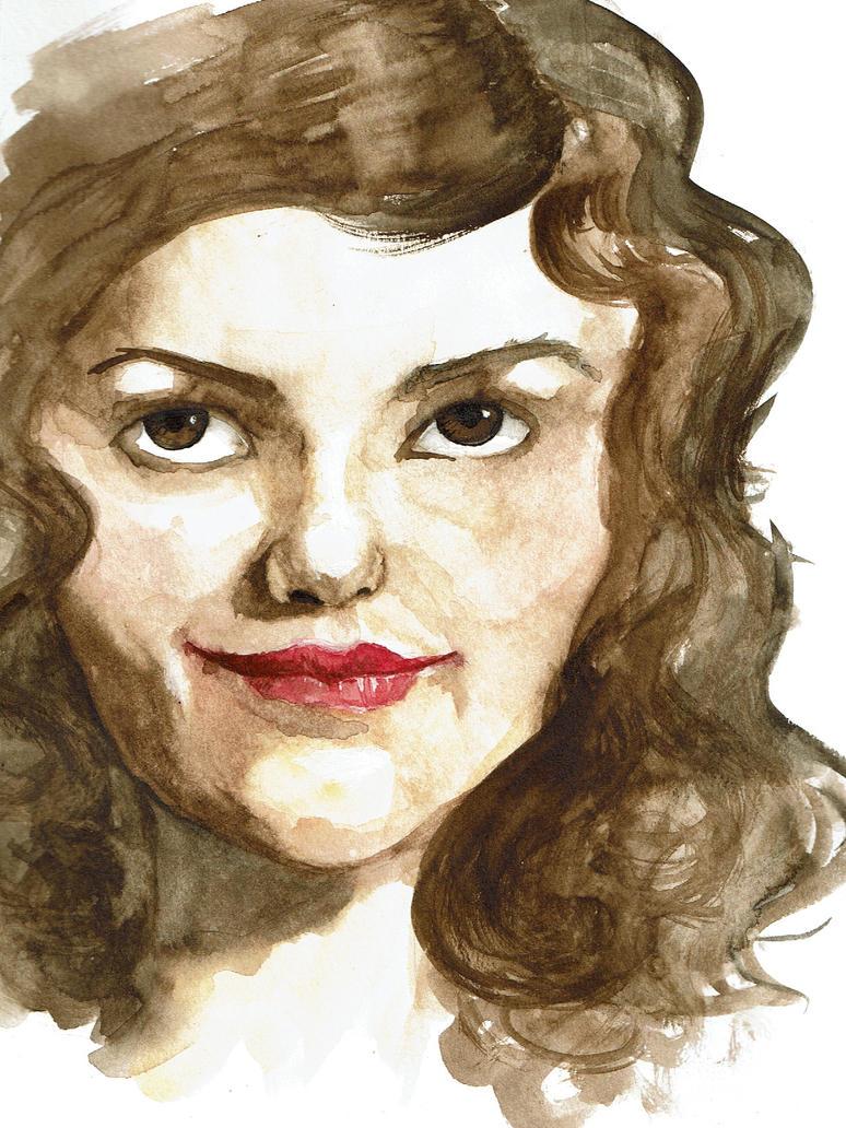 watercolor portrait by Joeysstorm
