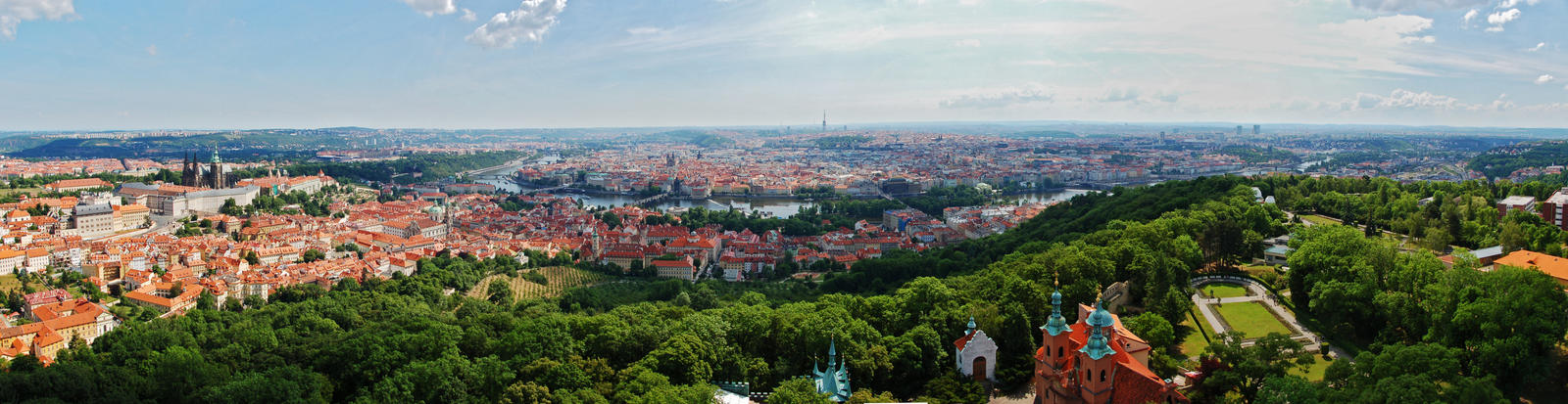 Panorama of Prague IV by Moonnight