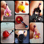 Berries and flowers belly button piercing by Madlen-art