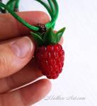 Raspberry necklace by Madlen-art