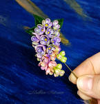 Aroma of Miracle,  lilacs brooch by Madlen-art