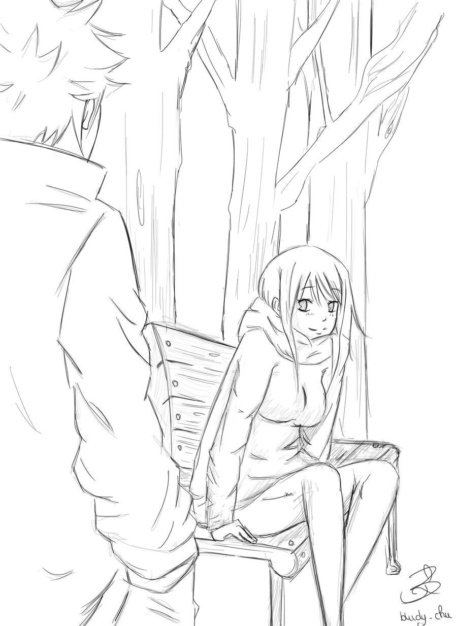 Nalu sketch: -Autumn time- by Bludy-chu